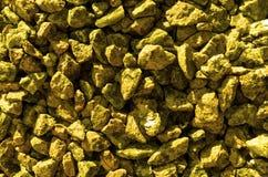 Gold stones gravel texture macro Royalty Free Stock Image