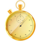 Gold stopwatch Stock Images