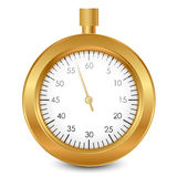 Gold stopwatch Royalty Free Stock Photos