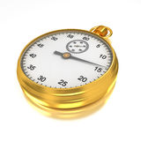 Gold Stopwatch Royalty Free Stock Images