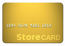 Gold Store Card. Isolated on white front on (includes clipping path Royalty Free Stock Image