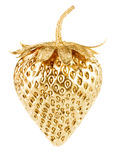 Gold strawberry Royalty Free Stock Photos