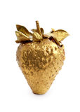 Gold strawberry stock images