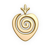 Gold strawberry symbol Stock Photos