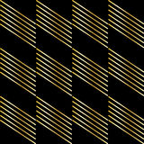 Gold strip on black Stock Photo