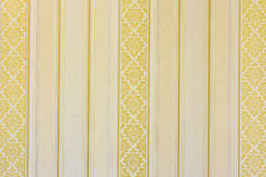 Gold striped wallpaper Royalty Free Stock Image