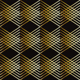 Gold stripes geometric pattern. Abstract striped gold and black modern seamless background. Vector file, Digital Illustration. Geometric texture. For Art, web Stock Photo