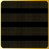 Gold stripes with polka dots, Black Background Royalty Free Stock Images