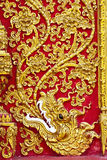 The gold stucco design of native thai style on the Stock Photography