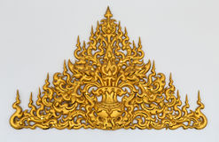 Gold stucco Thai style Stock Image