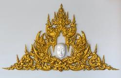 Golden Thai style stucco Royalty Free Stock Photos