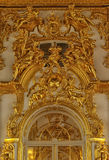 Gold stucco on the walls. Of the palace Stock Image