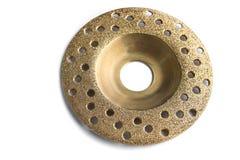 Gold studded diamond blade Stock Photos