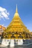 Gold Stupa Guardians Royalty Free Stock Photo