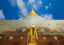 Gold stupa pagoda Stock Photos