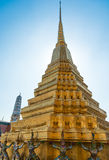 Gold stupa in Thailand Stock Image