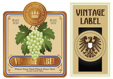 Gold style labels Stock Photography