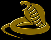 Gold Stylized Cobra. Ready for logo or other graphic applications Stock Photography