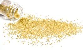 Gold Sugar Sprinkles Stockfotos