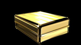 Gold suitcase Stock Photo