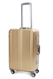Gold suitcase Royalty Free Stock Photo