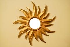 Gold sun frame Royalty Free Stock Image