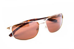Gold sun glasses Royalty Free Stock Photo