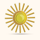 Gold sun modern 3d vector image. Can be use for logo vector illustration