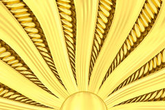 Gold sunburst background with rays and beams. royalty free stock photo