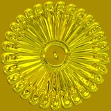 Gold sunburst jewelry Stock Image