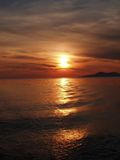 Gold sunset. Sea sunset Royalty Free Stock Images