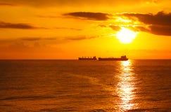 Gold sunset Royalty Free Stock Photos