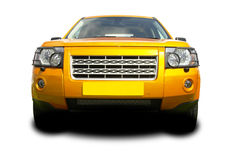 Gold suv. Gold coloured sports utility vehicle royalty free stock photo