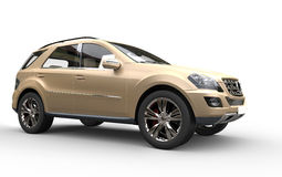 Gold SUV Stock Photo