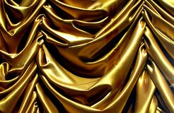 gold swag curtain Royalty Free Stock Photo