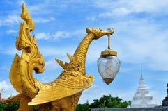 Gold swan stone Stock Photo