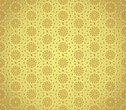 Gold Swirl and Circle Pattern on Pastel Background Royalty Free Stock Image