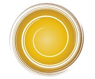 Gold Swirl Template vector illustration