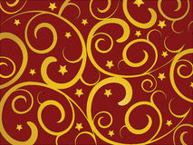 Gold swirls royalty free stock images