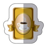 Gold symbol cup with plate icon. Illustraction design Stock Photo