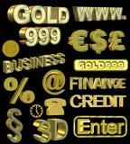 Gold Symbols Stock Images