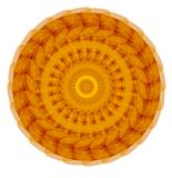 Gold symmetric circle mandala for harmony obtaining Stock Photography