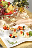 Gold table stock images