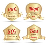 Gold tag promotion embroidery Stock Photo