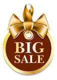 Gold tag sale Royalty Free Stock Images