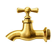 Gold tap Royalty Free Stock Photography