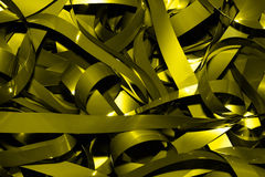 Gold tape. This is a closeup shot of bundle of old vhs tape, like nice background royalty free stock photography