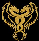 Gold tattoo horse. Illustration. Royalty Free Stock Photography