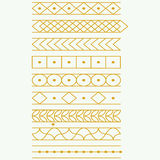 Gold tattoo, Sticker, borders, vector. Stock Photo