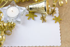 Gold tea light candle Stock Photo